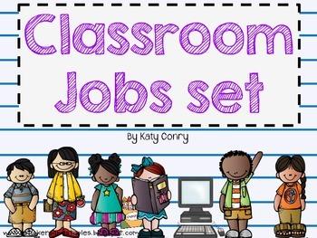 Classroom Jobs Set 33 Labels Melonheadz Kids By