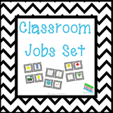 Classroom Jobs Set - Black Chevron