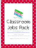 Classroom Jobs Set - Black & Red Polka Dots