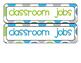 Classroom Jobs Set - Blue/Green/Gray Polka Dots