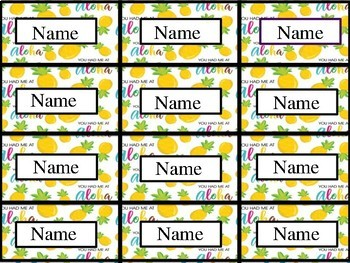 Classroom Jobs Set-Up Editable - Pineapple Theme