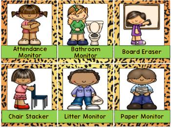 Classroom Jobs Setup {Jungle-Safari Themed}