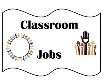 Classroom Jobs Signs
