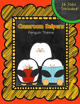Classroom Jobs Signs/ Classroom Helper Signs ~ Chalkboard Background