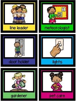 Classroom Jobs Signs-The Modern Classroom