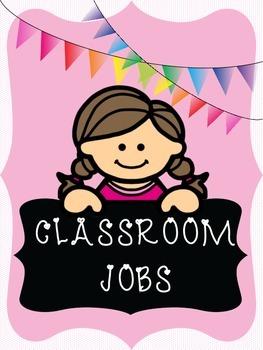 Classroom Jobs Signs and Job Application