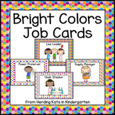 Classroom Jobs Signs with Brightly Colored Backgrounds