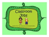 Classroom Jobs- Simple
