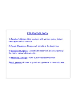 Classroom Jobs SmartBoard Presentation With Sample Resume'