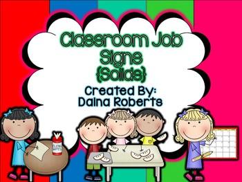 Classroom Jobs {Solids}