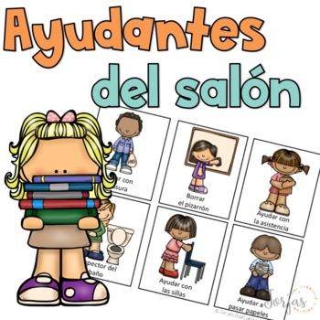 Classroom Helpers Jobs Spanish Ayudantes del Salón