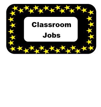 Classroom Jobs - Star Themed