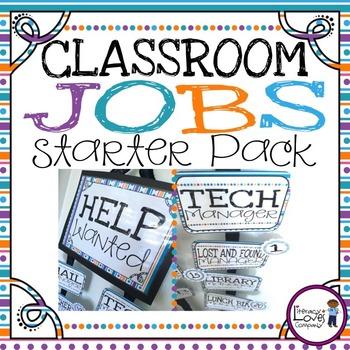 Classroom Jobs {Starter Pack}
