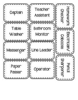 Classroom Jobs Sticker Labels and Student Number Hands