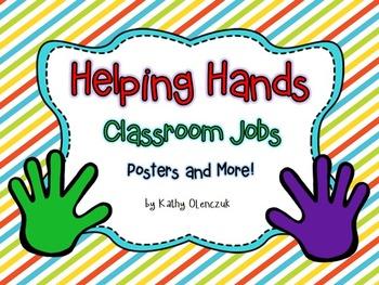 Classroom Jobs -- Stripes! (**EDITABLE)
