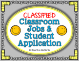 Classified Classroom Jobs & Student Application Set