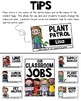 Classroom Jobs - Student Job Cards and Name Tags