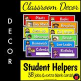 Classroom Jobs: Student Job Labels for Back to School Classroom Decor