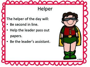Classroom Jobs: Super Hero Version