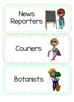 Classroom Jobs Superhero Style - Editable!