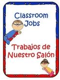Classroom Jobs: Superhero Theme for Dual Language Classroom