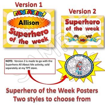 Classroom Jobs - Superhero Themed