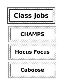 Classroom Jobs / Table Leaders / Table Points / WOTW (Editable)
