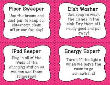 Classroom Jobs Task Cards