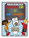 Classroom Jobs To Build Community
