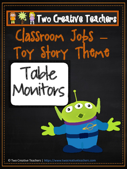 Classroom Jobs Toy Story Theme