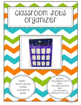 Classroom Jobs template - French Immersion
