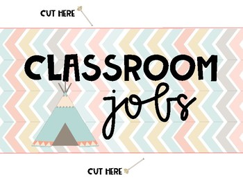 Classroom Jobs Tribal Themed