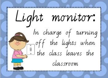 Classroom Jobs (VIC Font) Editable