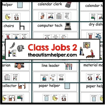 Classroom Jobs Visual Directions and Labels! Set 2
