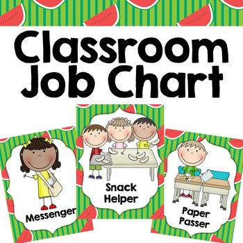 Classroom Jobs {Watermelon Theme}