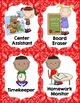 Classroom Jobs {Western Theme - Red Bandana}