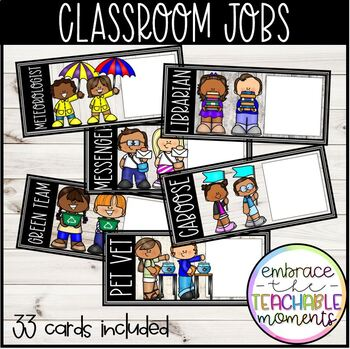 Classroom Jobs: White Wood Background