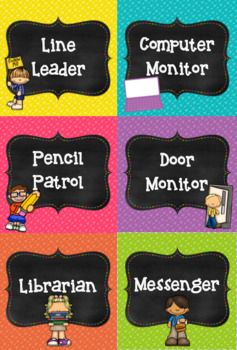 Classroom Jobs- With Editable Labels