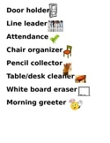 Classroom Jobs With Pictures