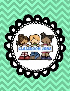 Classroom Jobs - With job description - ENGLISH