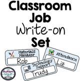 Classroom Jobs Write-on Set featuring Smarty Symbols