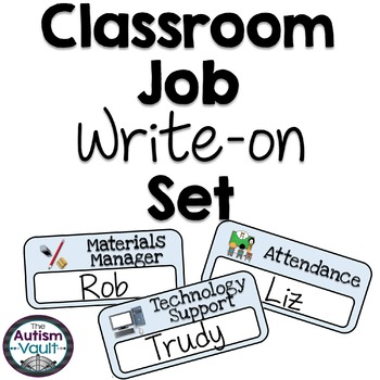 Classroom Jobs Write-on Set featuring Smarty Symbols