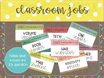 Classroom Jobs -You're Hired!