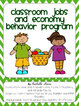 Classroom Jobs and Economy Behavior Plan {Editable}