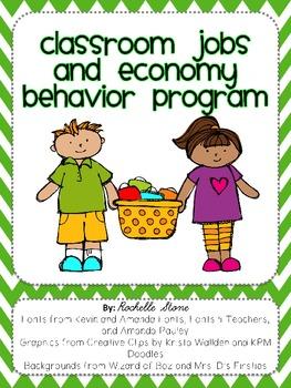 Classroom Jobs and Economy Behavior Plan {Editable}
