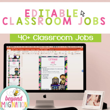 Classroom Jobs Editable With Pictures Middle School