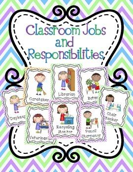 Classroom Jobs and Responsabilities