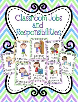 Classroom Jobs and Responsabilities