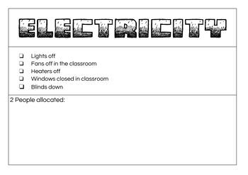 Classroom Jobs and Responsibilities editable