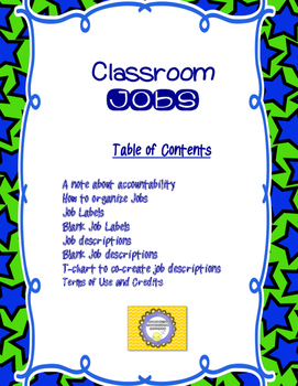 Kids Love Classroom Jobs and Routines-- Back to School Management